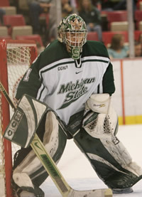 Michigan State goaltender Jeff Lerg is good. His team is not. Therefore, if you have a vote in either of the two college hockey polls, please refrain from including MSU. Thank you.